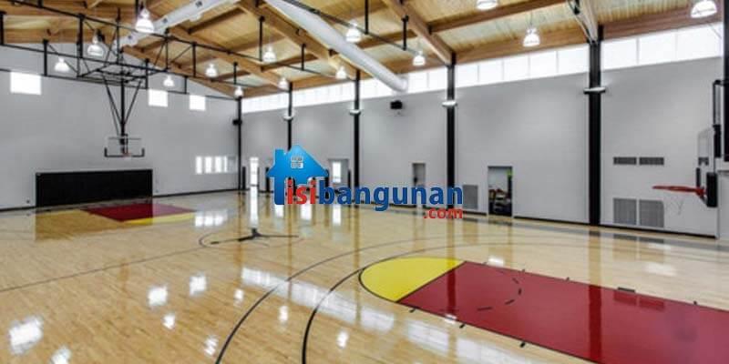 Menggunakan Lantai parket Untuk Lapangan Basket