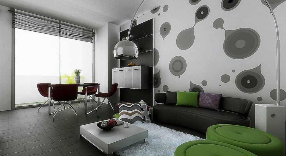 Wallpaper Dinding 3d Untuk Dekorasi Interior Rumah Minimalis
