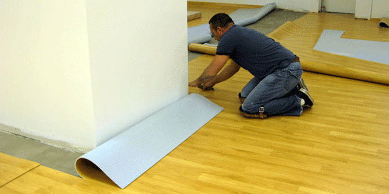Proses Pemasangan Lantai Vinyl Roll