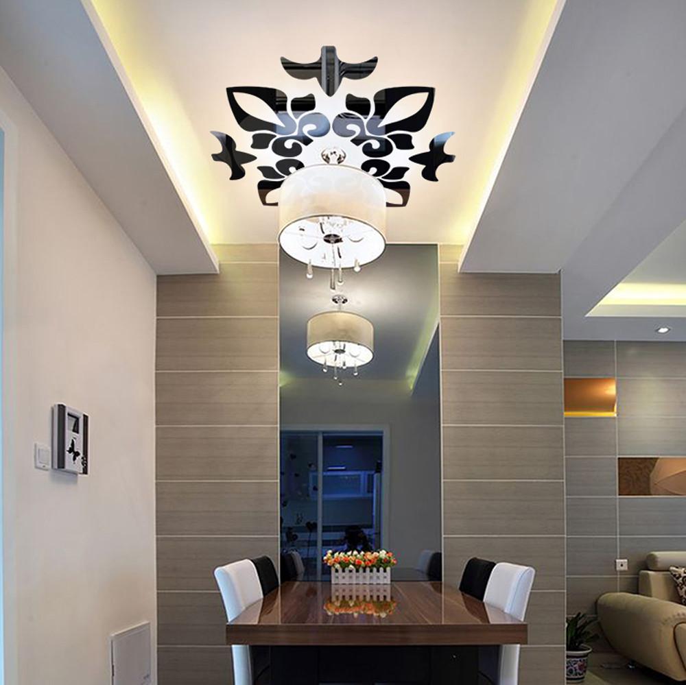 Plafon rumah minimalis pun dapat dihias dengan sticker ukiran untuk menciptakan kesan mewah - 5 Cara yang Dapat Dilakukan untuk Membuat Plafon Rumah Minimalis Tampak Elegan