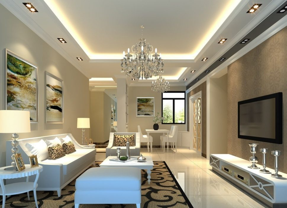 Rumah berdesain rustic akan tampil lebih manis dengan model plafon gypsum elegan - 5 Konsep Desain Interior yang Dapat Dipadukan dengan Model Plafon Gypsum Elegan
