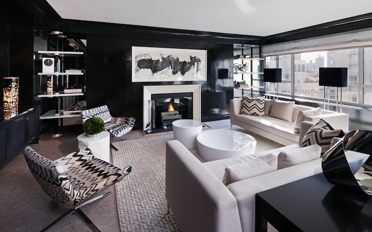 Elegan dengan brushstroke - Contoh Wallpaper Dinding Minimalis di Ruang Keluarga - bykoket.com