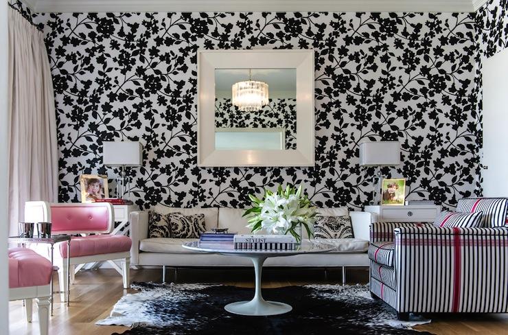 White-on-white - Contoh Wallpaper Dinding Minimalis di Ruang Keluarga - HdFlowerWallpaper.com