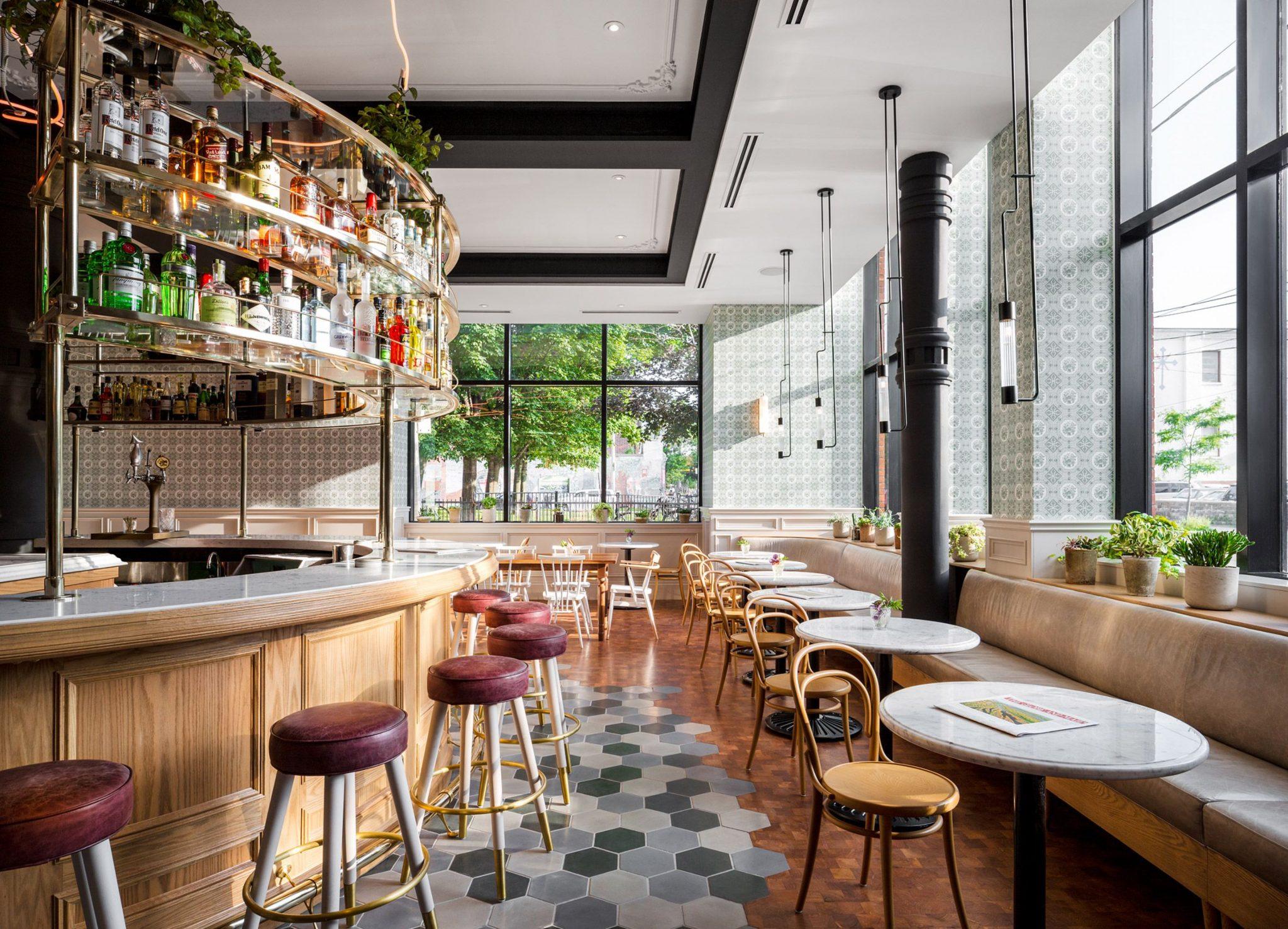 Memilih material untuk lantai juga penting - 3D Wall Panels yang Tepat untuk Interior Kafe Supaya Terlihat Instagrammable - Pinterest.com