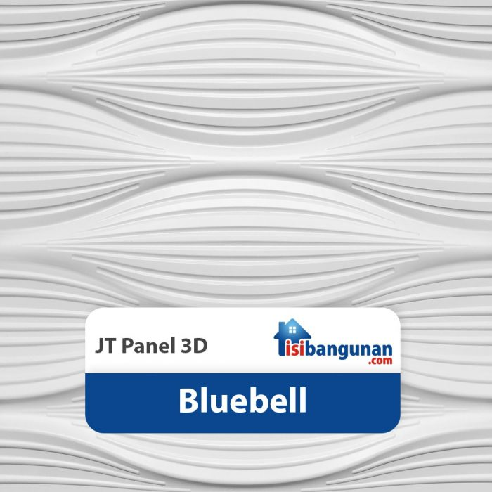 JT Panel 3D PVC - Bluebell