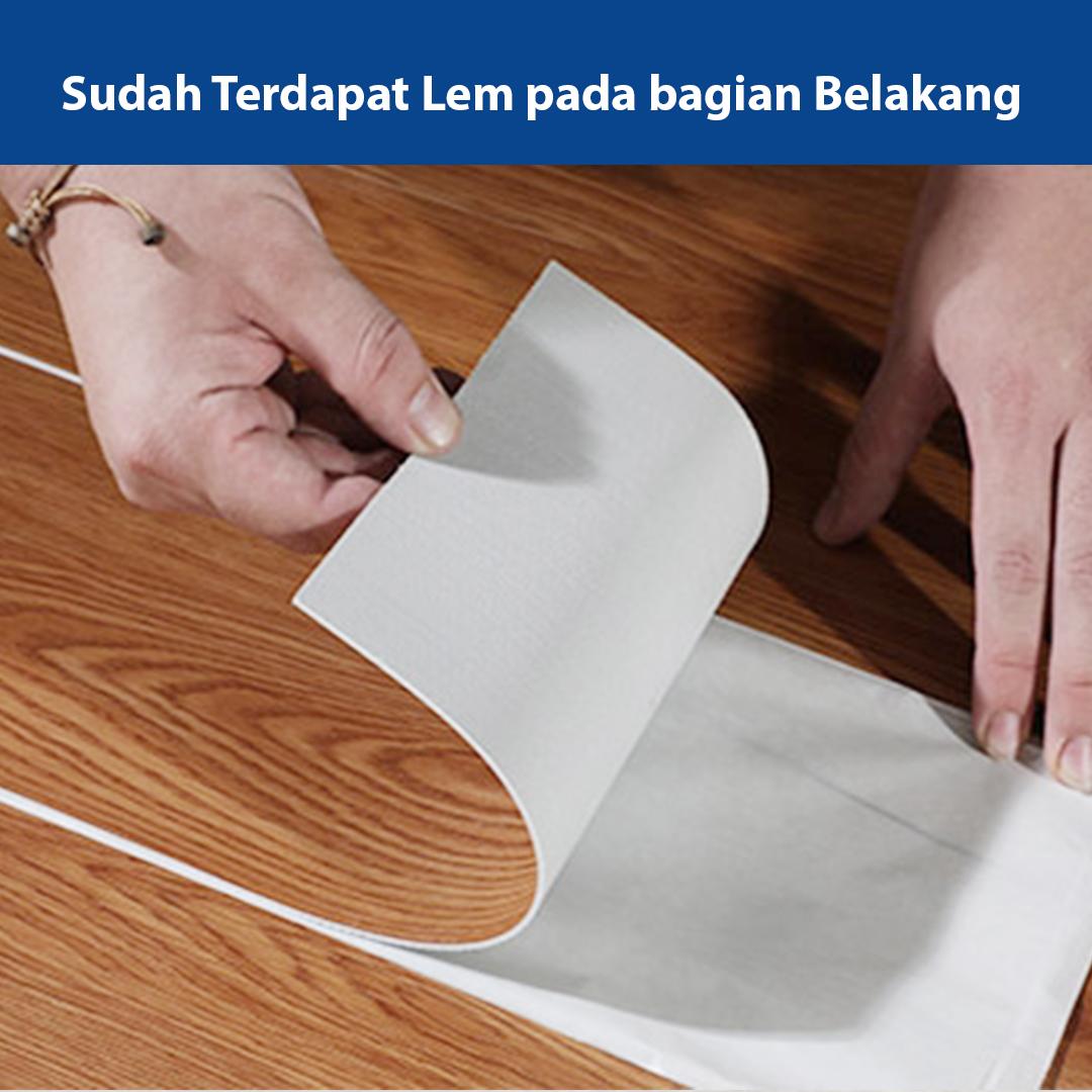 cara pasang lantai vinyl stiker